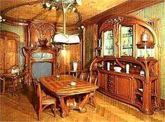 Art Nouveau dining room.