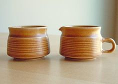 Vintage Denby/Langley Creamer and Sugar in the by DishingItUp, $24.00