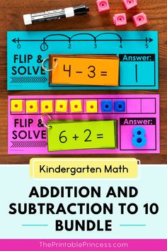 This addition and subtraction bundle is the perfect complement to your kindergarten math curriculum. The low-prep variety of games, activity mats, and worksheets included are great for morning work, homework, extra practice, math centers, or distance learning. Subtraction Activities, Kindergarten Math Activities, Counting Activities, Letter Activities, Preschool Classroom, Classroom Ideas, First Grade Teachers, First Grade Classroom, Math Addition