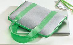 Praktische Tasche für den LapTop - Schnittmuster und Nähanleitung via Makerist.de