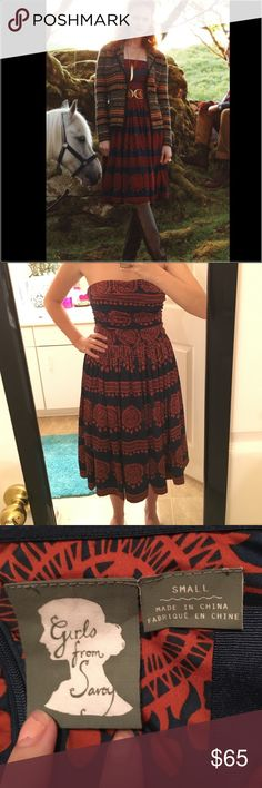 """Anthropologie """"Oxidized Medallion"""" Dress Only worn two times! Beautiful dress and great colors for this coming season! Let me know if you have additional questions.                      Side boning   Back zip  Polyester, spandex; spandex lining   Dry clean   Regular: 36"""" Anthropologie Dresses"""