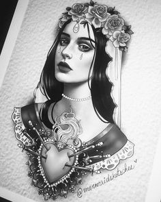 -  - Girl Face Tattoo, Girl Face Drawing, Face Tattoos, Badass Tattoos, Traditional Tattoo Old School, Neo Traditional Tattoo, American Traditional, Neo Tattoo, Tattoo Flash
