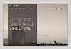 Websites We Love — Driza-Bone — Designspiration