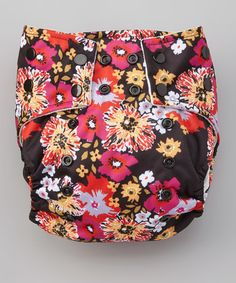 Look what I found on #zulily! Black Floral Pocket Diaper by ROYAL FLUFF #zulilyfinds