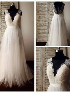 Shared >> Lace Sheath Wedding Dress With Cap Sleeves.