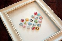 buttons made from old baby clothes