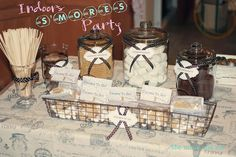 smores at parties   Found on kellysmoonlight.blogspot.com