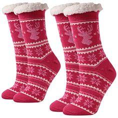 126ea1656989 Enjoy exclusive for Christmas Slipper Socks Grippers Women Warm  Fleece-lined Mid Claf Time River online
