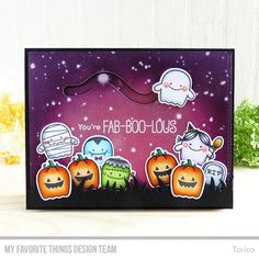 Fab-BOO-lous Friend Stamp Set and Die-namics, Downhill Slope Die-namics, Grassy Fields Die-namics - Torico  #mftstamps