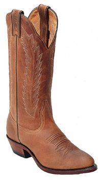 14241253693b Boulet Ladies Rodeo Amber Gold Medium Cowboy Toe Leather Boots 9026 Western  Boots