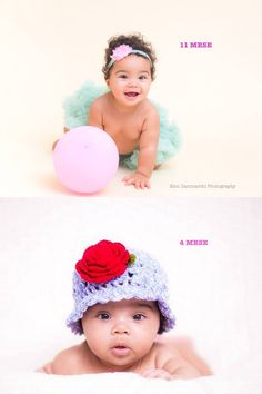 La bellissima Clohe! Da 4 mesi a 11 ma quanto sei cresciuta! ❤️ #babyshooting #elenzammarchi