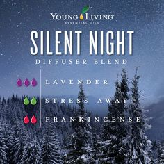 Lavender Essential Oil - 15 ml Rest easy with this relaxing holiday diffuser blend! To create Silent Night, add 3 drops of Lavender, 2 drops of Stress Away, and 2 drops of Frankincense essential oil to your diffuser. Young Essential Oils, Essential Oils Guide, Essential Oils For Sleep, Essential Oil Stress Away, Lavender Essential Oil Uses, Frankincense Essential Oil Uses, Valor Essential Oil, Sleeping Essential Oil Blends, Essential Oil Diffuser Blends