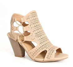 65749f85de48b5 City Classified Zuka Strappy Heels in Natural Strappy Heels