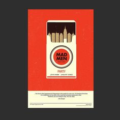 """""""Mad Men"""" by Olly Moss. A wonderful depiction of the setting of """"Mad Men""""."""