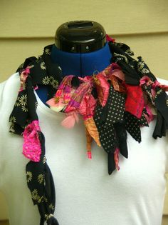 Summer Bohemian Necklace Scarf by JacketsbyJahne on Etsy, $48.00