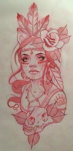 Tattoos And Body Art tattoo stencils Pencil Art Drawings, Art Drawings Sketches, Tattoo Sketches, Cool Drawings, Tattoo Drawings, Tattoo Ink, Native Drawings, Rose Drawing Tattoo, Stencils Tatuagem