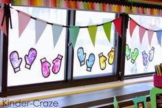 Kinder-Craze: A Kindergarten Teaching Blog: Stained Glass Mitten Window Decor Tutorial
