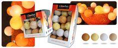 Lichtslinger verkrijgbaar in drie cadeauverpakkingen met 20, 35 of 50 ballen.