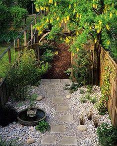 Gravel side garden