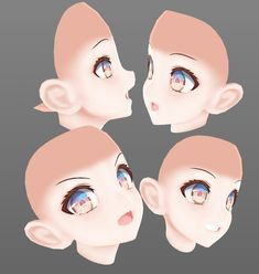 3d Model Character, Character Modeling, 3d Modeling, Character Concept, Face Topology, Modelos 3d, 3d Fantasy, Digital Art Tutorial, Drawing Base