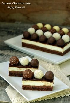 in tava, nivelam si dam la cuptor pentru 20 de minute. Eat Pray Love, Something Sweet, Chocolate Cake, Cheesecake, Food And Drink, Coconut, Sweets, Breakfast, Ethnic Recipes