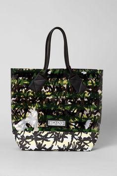 Kenzo Palms & Stripes Transparent Tote - Kenzo Bags & Wallets Women - Kenzo E-shop