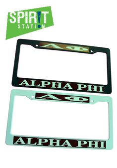 Alpha Phi Plastic License Plate Frame-On sale this week! (1/20-1/26/13)