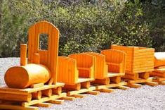 1000 woodwork projects - Google Search Wooden Train, Outdoor Chairs, Outdoor Decor, Woodworking Projects, Backyard, Stock Photos, Children, Diy, Painting