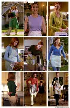 More lovely aprons from Bree Van De Kamp on Desperate Housewives. Marcia Cross, Desperate Housewives Bree, Fashion Tv, Fashion Outfits, Housewife Photos, Bree Van De Kamp, Dressy Casual Outfits, Babe, Domestic Goddess