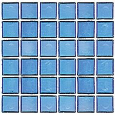 Ocean Blue Recycled Glass Mosaic 12 x 12 in. $14.99 a SF. #thetileshop