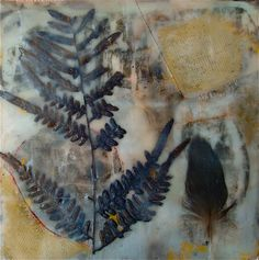 encaustic mixed media on board