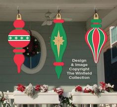 Wooden Holiday Yard Signs   christmas tree yard art pattern   Holiday Signs - Giant Ornaments 5 ...