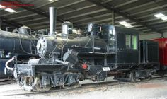 The Climax logging locomotive at the museum, November 2002