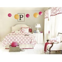 Aimée Pink Bedding Collection - for N's room?