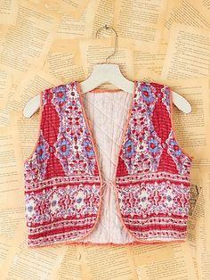 1c795102d4f81 Vintage Quilted Vest Festival Girls