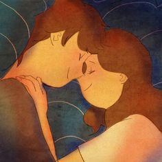 너의 머리카락을 만지작 만지작 너의 머리카락이 내 얼굴 위로 쏟아졌어요. 자요 엎드려서 바라봤어요. 함께 잠들어요. 깊게 잠든 너를 바라봐요. 사랑해요. 자다가 잠깐 눈을 떴는데, 네가 날 바라보고있었어요. 웃음이 나왔어요. 함께 웃었어요. 좋은 꿈을 꿀 것 같아요. 가필드와 너를 안고 자요. 잘자요.
