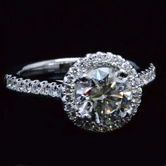 2.13 ct. Round Brilliant Cut Halo Diamond Engagement Ring G, VS2 EGL Certified - Recently Sold Engagement Rings
