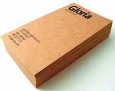 Tarjetas de visita impresas en papel kraft