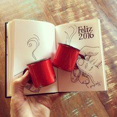SketchBlog — 1 café e um brinde!! #2015 #2016 #fimdeano...