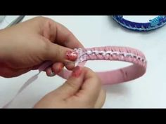 Tutorial Diademas forradas en cinta gros varios colores paso a paso - YouTube