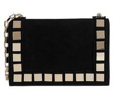 Tomasini Studded Suede Mini Shoulder Bag