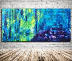 Original Acrylic Blue Painting on Canvas par KathleenProFineArt
