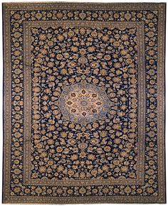 "NEW! 10'x13'2"" Persian Kashan area rug, available in-store and online now: https://www.mainstreetorientalrugs.com/collections/new/products/10x13-2-persian-kashan"