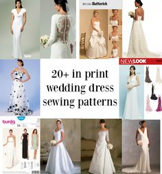 Links to over twenty in print bridal gown sewing patterns! Links to over twenty in print bridal gown sewing patterns! Scalloped Wedding Dresses, Diy Wedding Dress, Wedding Dress Pictures, Wedding Dress Sizes, Bridal Dresses, Wedding Ideas, Vogue Patterns, Wedding Dress Sewing Patterns, Gown Pattern