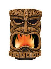 Flaming Tiki Head Decoration