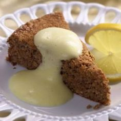Haroset Cake with Zabaglione Sauce ~ Haroset is a fruit-and-wine concoction eaten during the Passover Seder and said to represent the mortar that the Israelites used to build Pharaoh's temples.