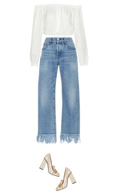"""frayed edge."" by sharplilteeth ❤ liked on Polyvore featuring Elizabeth and James, Gucci, women's clothing, women, female, woman, misses and juniors"