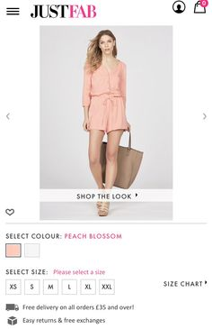 Peach playsuit with nude bag and shoes