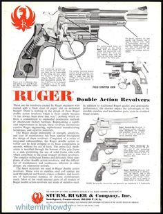 1980 RUGER Security & Speed Six Police Revolver AD : Other Collectibles at GunBroker.com