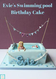 Evies Swimming Pool Birthday cake